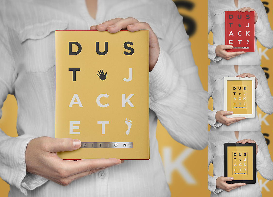 Book Mockup Dust Jacket