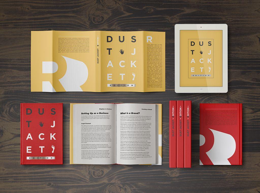 Book Mock Up Dust Jacket Edition Punedesign