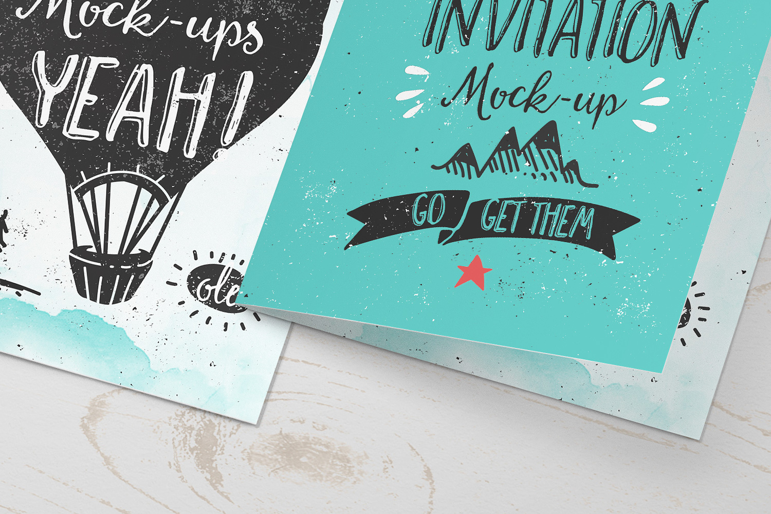Invitation Greeting Card Mock Up Punedesign
