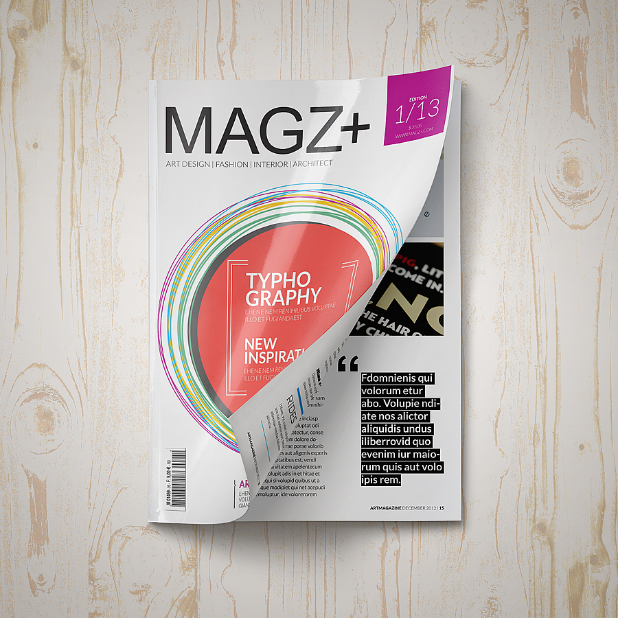 Magazine Mock-Up Set