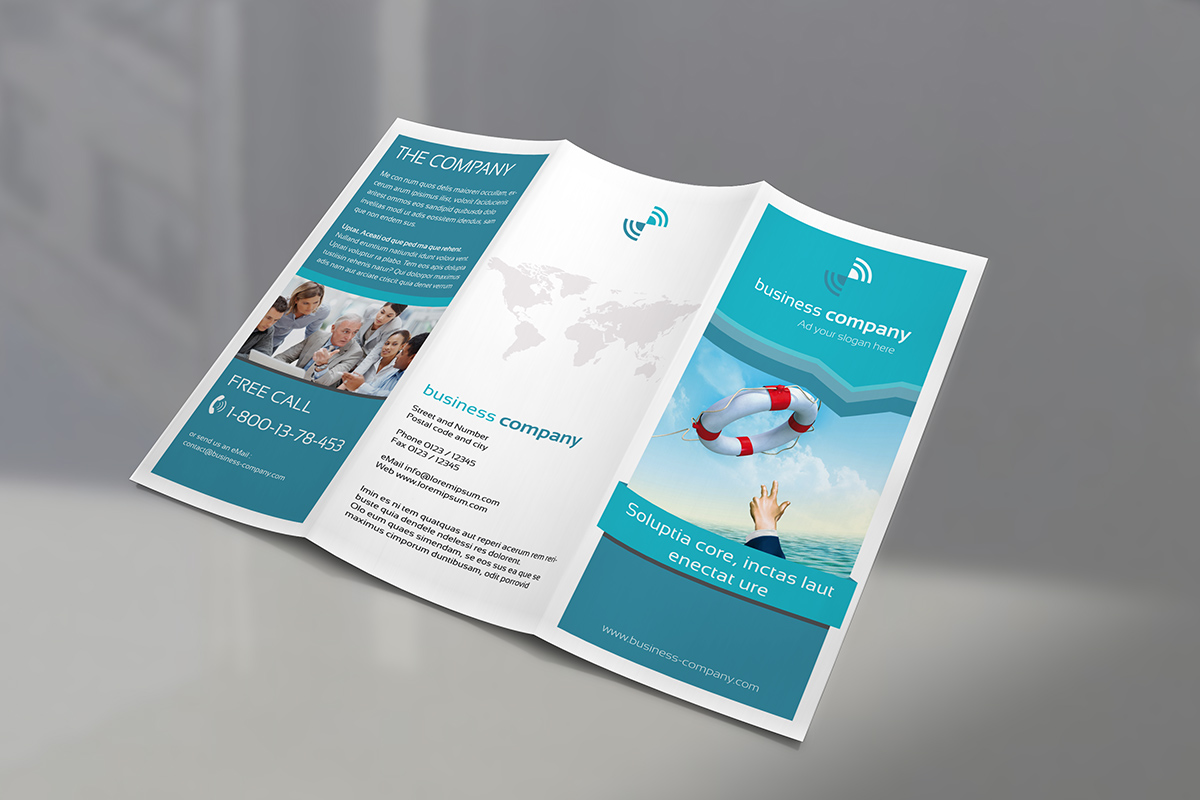 trifold brochure mock up punedesign