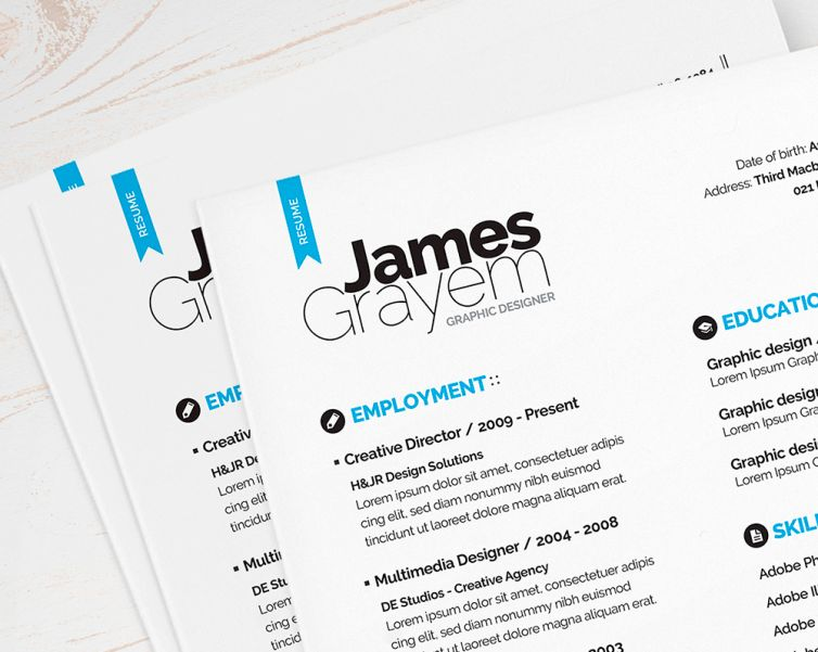 Resume + Cover Letter / CV Template