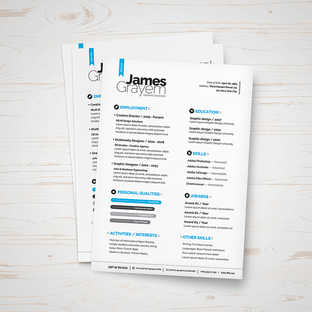 Resume  Cover Letter  Cv Template  Punedesign