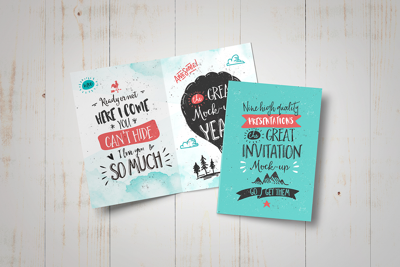 Invitation - Greeting Card Mockup