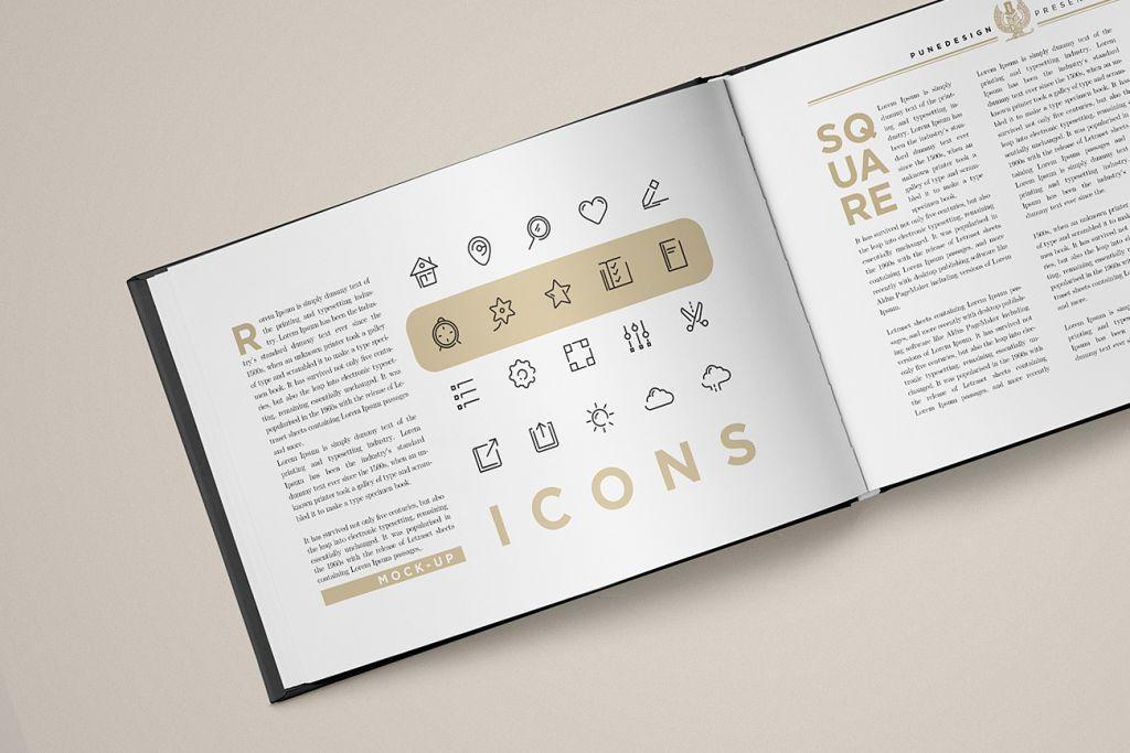 Landscape Book Cover Design : Landscape book mock up punedesign