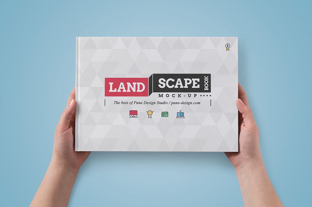Landscape Book Mock-Up Set - Pune Design