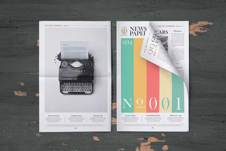 Newspaper Mock-Up Set