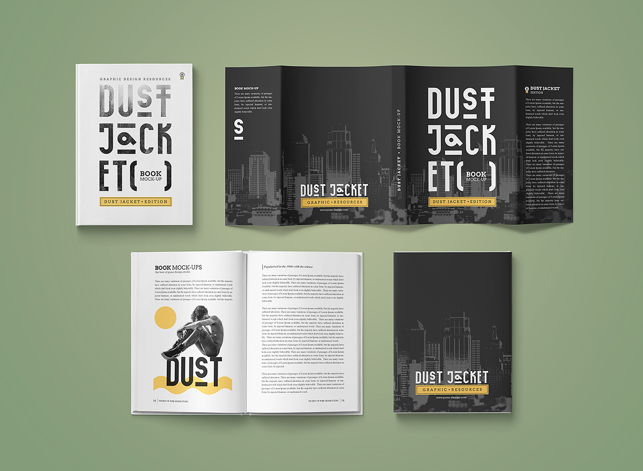 Book Mock-up    Dust Jacket Edition