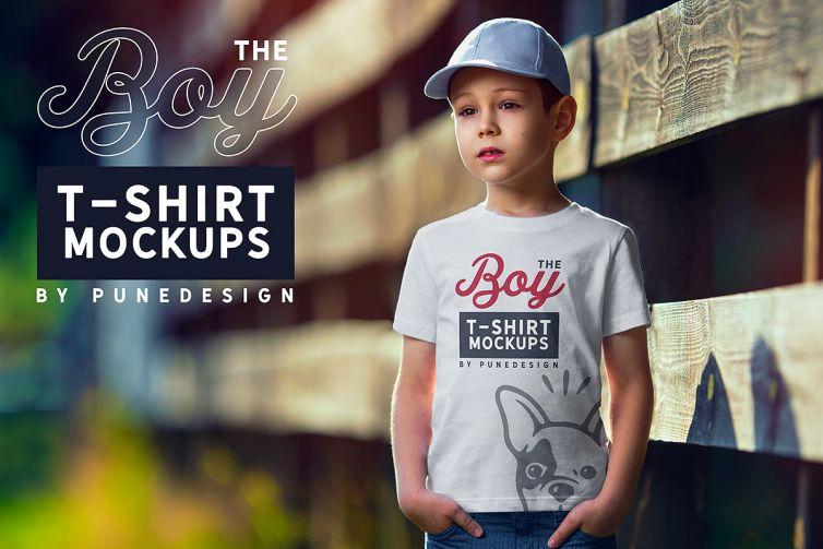 Boy T-Shirt Mock-Up Set